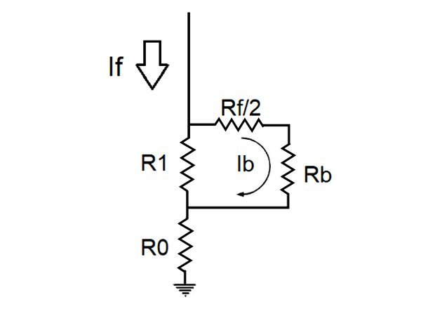 Equivalent network for touch voltage