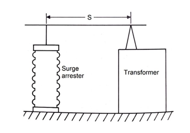 Surge arrester separated from a transformer. Image courtesy of McGraw-Edison Company.