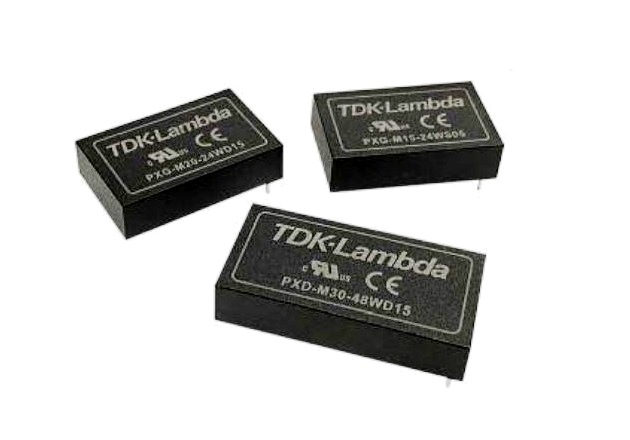 Three new series of medically rated DC-DC converters from TDK. Image courtesy of TDK