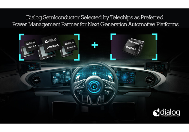 Telechips chooses Dialog Semiconductor in a recent partnership agreement to develop and enhance Telechips Dolphin+ automotive platform.