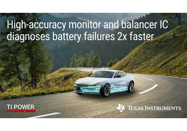 Texas Instrument's High-Accuracy Battery Monitor Helps Engineers Diagnose Failures in High-Voltage Battery Management Systems Figure