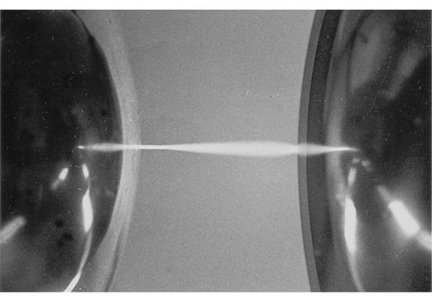 Spark discharge between spherical electrodes