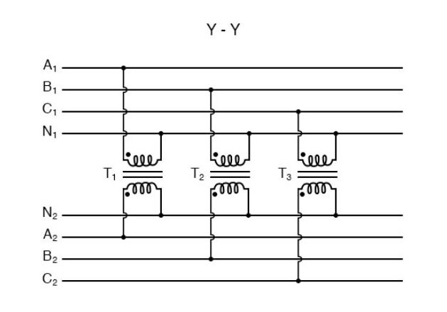 Figure 1. Transformer banks must have an equal impedance to deliver equal voltage. Image Courtesy of AllAboutCircuits