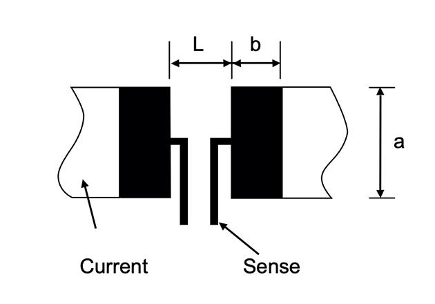A current sense resistor.