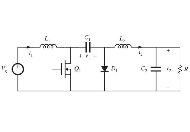 Figure 1. Circuit diagram of the Ćuk converter