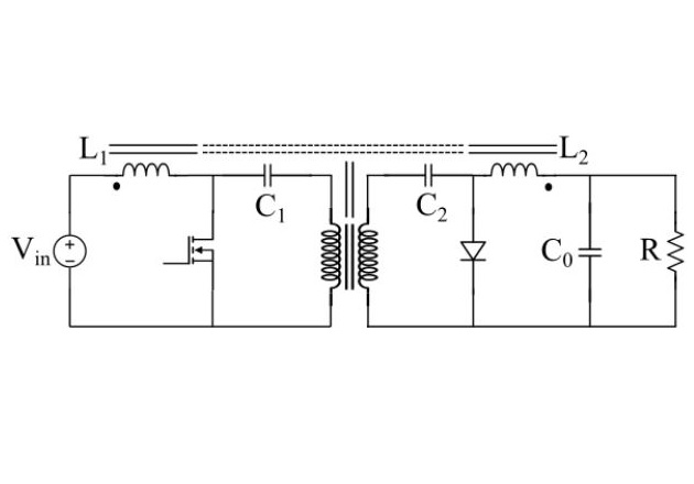 Figure 1. Circuit diagram of the Ćuk converter with integrated magnetics structure
