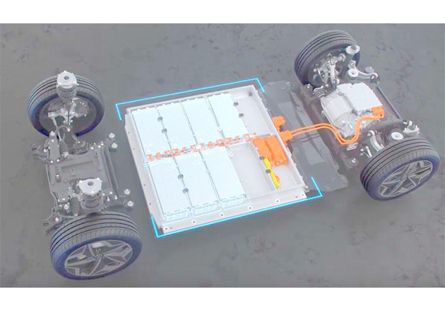 Volkswagen's MEB chassis.