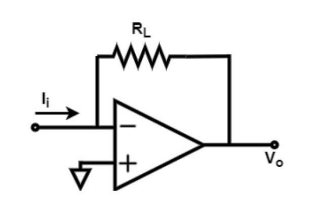 Figure 11. An op-amp in trans-conductance mode; an example of a CCVS.