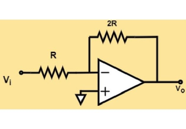 Figure 13. An op-amp in inverting configuration; an example of a VCVS.