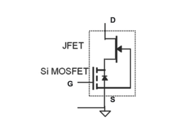 The final circuit configuration of the cascaded SiC FET