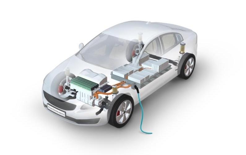 Example electric vehicle showing power sources that require battery cell monitoring