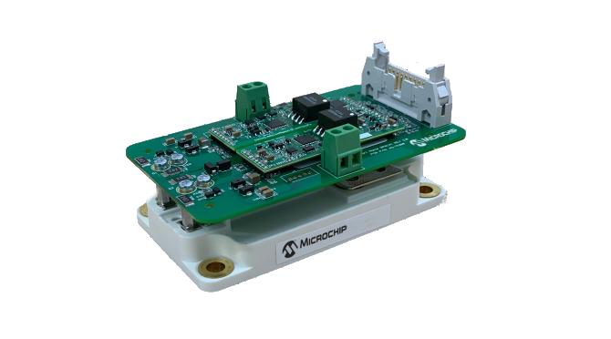 Microchip's AgileSwitch® digital programmable gate driver and SP6LI SiC power module kit