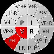 Ohm's chart V=P/I