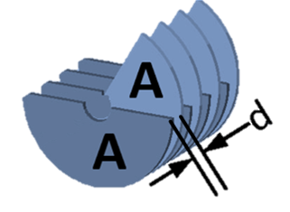 schematic view of air capacitor