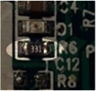 SMD resistor (331) on a circuit board