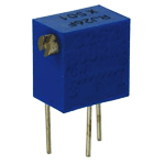Side adjustable multi-turn preset resistor