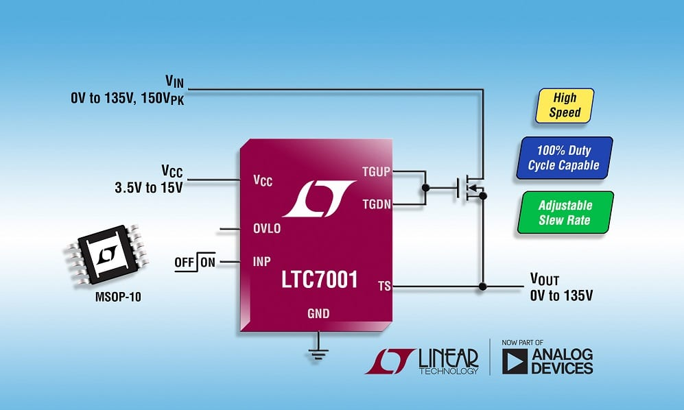 150v High Side N Channel Fet Driver Supports 100 Duty