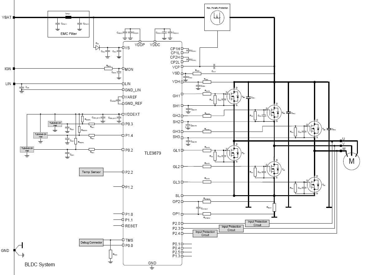3-phase bridge driver with integrated arm u00ae cortex u00ae m3