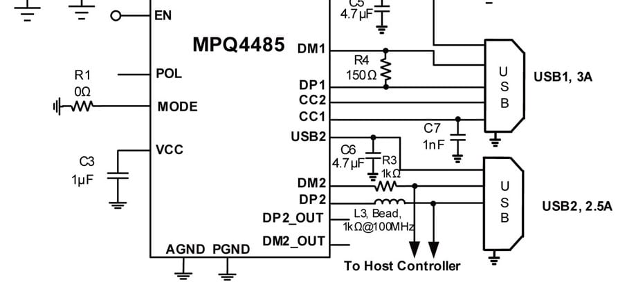 multi port usb charger circuit diagram