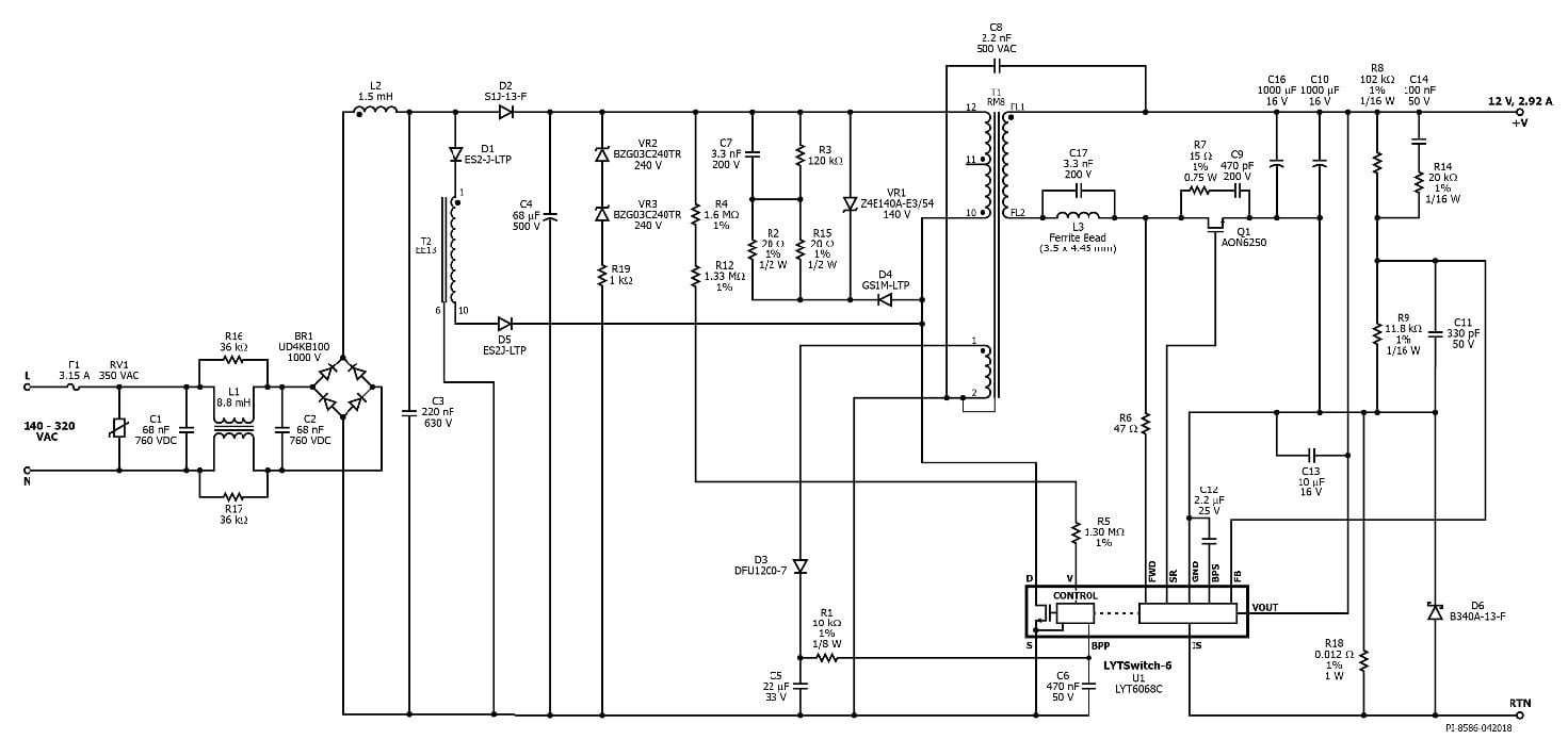35w isolated flyback with switched valley fill pfc  u2013 reference design