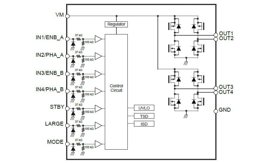 h bridge driver ic supporting 1 8v low voltage and 4 0a current rh powerpulse net