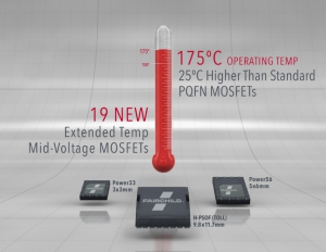 Extended Temperature Mid-Voltage MOSFETs Rated at 175° C
