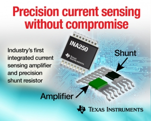 First Current-Sense Amplifier  with Integrated High-Precision, Low-Drift Shunt Resistor