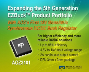 First 18V Monolithic Synchronous DC/DC Buck Regulator