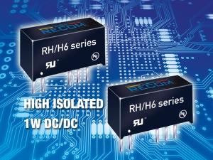 1W DC/DC converter with 6.4kVDC isolation