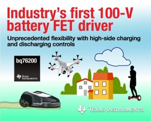 High-Voltage Batteries with First 100-V High-Side FET Driver