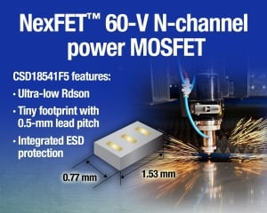 1.2-mm2 60-V N-channel Power MOSFET with Low On-Resistance