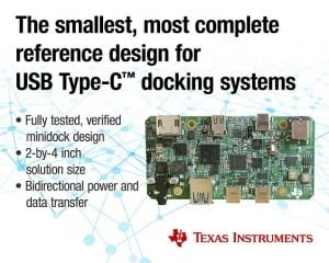 Multiport Minidock Reference Design Speeds Development of USB Type-C and Power Delivery Docking Stations