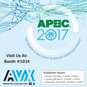 New EV/HEV Capacitors to Launch at APEC 2017