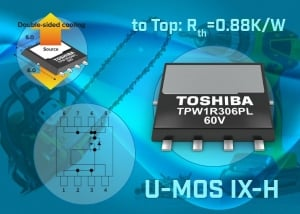 Double Sided Cooling to 60V Power MOSFETs for Motor Control and Power Supplies