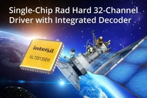 Single-Chip Rad Hard 32-Channel Driver with Integrated Decoder