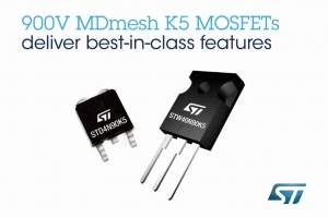 Best-in-Class 900V MOSFETs Enhance Power and Efficiency of Flyback Converters