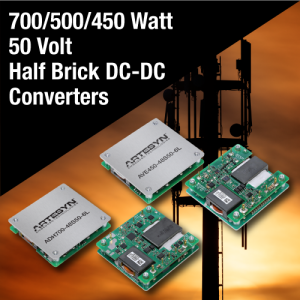 50 Volt DC-DC Bricks Enable GaN Wireless Power Amplifiers