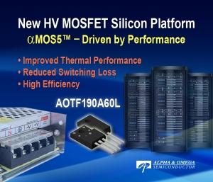 Debut of High Performance HV MOSFET aMOS5 Platform