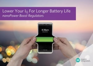 Boost Regulator Delivers Longest Battery Life and Smallest Solution Size
