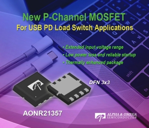 New P-Channel MOSFET  for USB PD Load Switch