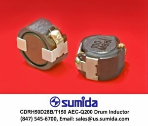Sumida Corporation Introduces Compact, Magnetically-Shielded Drum-Core SMD Power Inductors