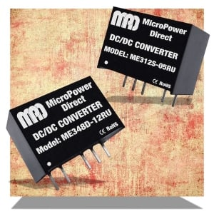 MicroPower Direct Introduces High Performance 3W DC-DC Converter in Miniature SIP Package