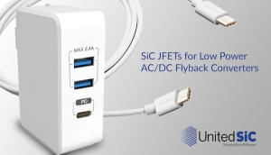 UnitedSiC announces SiC JFET family for low power AC-DC Flyback converters