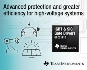 First Isolated Gate Drviers with Integrated Sensing for IGBTs and SiC MOSFETs Save Energy and Protect High-Voltage Systems