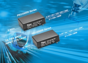 Flex Power Modules announces encapsulated sixteenth-brick DC-DC converters for industrial/railway and telecom applications