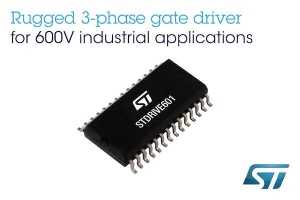 600V Three-Phase Gate Driver with Smart Shutdown from STMicroelectronics Enhances Performance and Safety in Industrial Applications