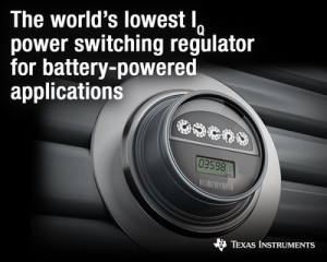 New Power Switching Regulator with the Industry's Lowest Quiescent Current Extends Battery Life in IoT Designs