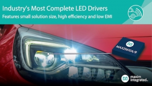 Maxim's Compact LED Drivers Provide Industry's Most Complete Solutions with High Efficiency and Low EMI