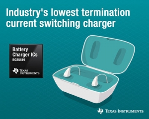 New battery charger delivers industry's lowest termination current to increase battery capacity and life