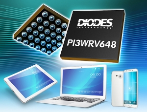 Diodes Incorporated MIPI PHY Switch Offers Fast Switching Between High Speed and Low Power across Five Lanes